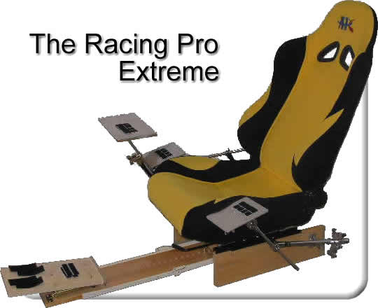 The Newest Monsta Chair Gaming Chair model. *Racing/Simulation Pro* Includes Racing Seat, 3 Adjustable Platforms, Adjustable footboard and pedals.